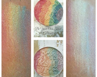Save Money Get Both Mystical Fairy Wings Pastel & Be Your Own Kind of Beautiful Rainbow Highlighter 57mm Pan Compact Taking Pre-Orders