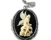 Angel Skull Locket