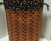 Going Batty- Large Box Bottom Poor Girl Project Bag