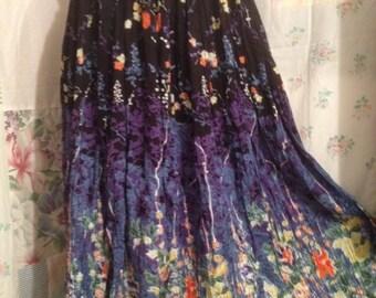 SMALL/MED, Bohemian Flowerchild Hippie Romantic Skirt