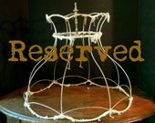 RESERVED Sold // Vintage / Antique French Tattered Lampshade Frame / Wire Frame Lighting / Boudoir Decor / Shabby French Decor