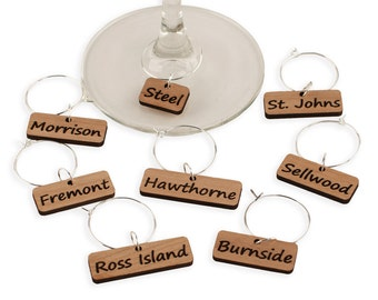 Portland Bridges - Wine Glass Charms