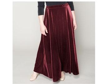 A-line Velvet Skirt 4 lengths Misses & Plus Sizes 2-28