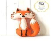 40% OFF: Fox Stuffed Animal Pattern, Felt Hand Sewing Fox Plushie Pattern, Fox Softie Pattern, Instant Download PDF