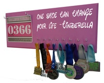 Run disney, Disney princess, Running medal hanger,medal holder, Cinderella theme, One shoe can change your life, disney marathon, rundisney