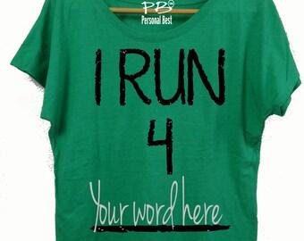 Running  slim fit shirt for women's - running shirt for women's - running shirt - I Run 4- custom shirt