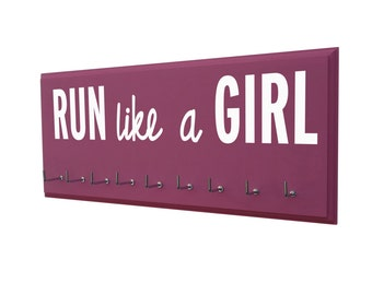 Gifts for women running, medals holder: run like a girl
