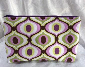 Michael Miller Print Makeup Cosmetic Bag