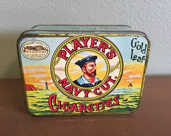 Vintage Player's Navy Cut Cigarettes Tin