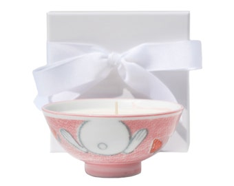 Honey Bunny Hand Poured Soy Wax Candle, Pink