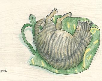 Cat original drawing - P012July2016