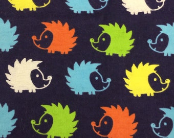 Bright Hedgehogs - FLANNEL - BTY