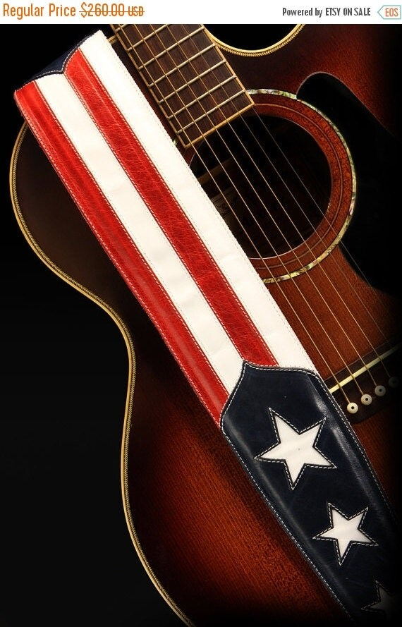 on sale patriotic guitar strap american flag guitar strap old glory guitar strap. Black Bedroom Furniture Sets. Home Design Ideas