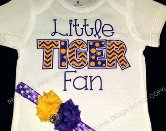 ORIGINAL DESIGN - Little Fan, My brother's Biggest Fan, Football Sister, Baseball Sister, Basketball Sister Creepers have Matching Headband