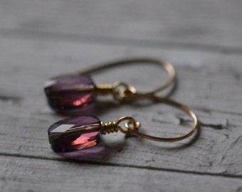 CLEARANCE lilac crystal earrings