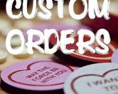 CUSTOM ORDER Candy Love Heart Brooch.