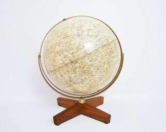 RARE Lunar/Moon Globe Weber Costello 1969