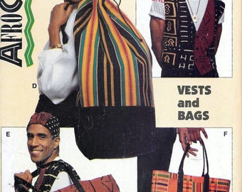 Butterick 937 Essence AfroCentrics Pattern Vests & Bags Sewing Pattern Ethnic Urban African UNCUT