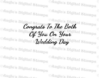 Congrats To You Both Quote Digital Stamp Image