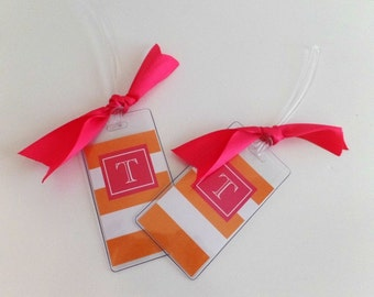 Luggage Tags  2 Personalized-Monogram Bag Tag- Monogram Gift-Travel Gift-Graduation Gift-Wedding Gift-Couple Gift
