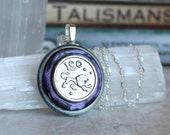 violet leo necklace, astrological sign, zodiac sign, birthday gift, astrology jewelry, zodiac jewelry, august birthday, unique gift