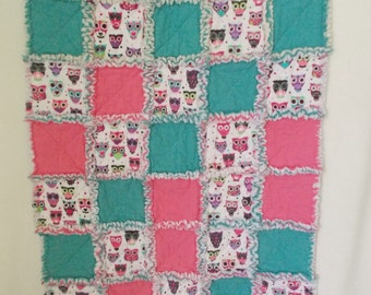 Rag Quilted Baby Blanket
