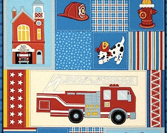 Firefighters fabric, 100% cotton fabric for general arts and crafts and all sewing projects