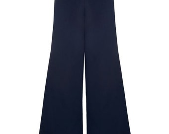 Brand New Vintage Style Retro 40s/50s Inspired Navy Blue Palazzo Pants/Trousers Pin Up Rockabilly Style