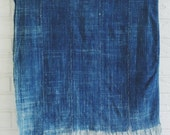 Vintage Indigo Moshi Textile - Solid Blue Boho Throw Blanket - Lightweight Summer Throw