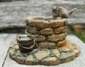Fairy Garden Wishing Well- Miniature Stone Wishing Well-terrarium accessories