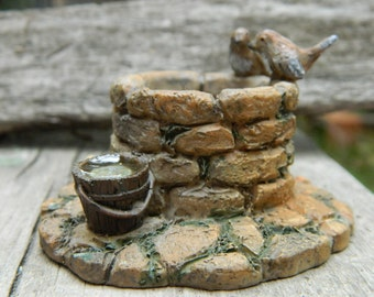 Fairy Garden Wishing Well- Miniature Stone Wishing Well-terrarium accessories