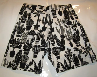 gothic desert cactus mens shorts cacti short cactuses men shorts succulent shorts mens short black and white shorts desert short man shorts