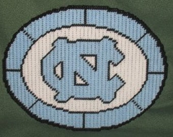 North Carolina Tar Heels Logo Plastic Canvas Pattern