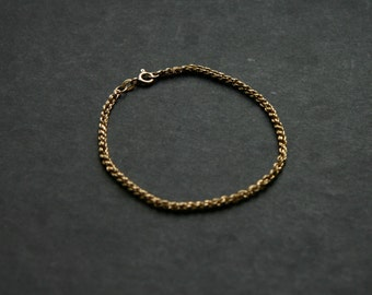 SALE Vintage 9k ct Gold Chain Bracelet Jewelry English Unisex
