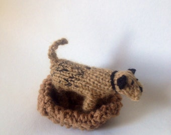 BorderTerrier knitted in wool