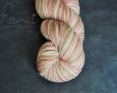 KAUNI Wool Yarn 8/2, Fingering, 2ply,  Pale Pink, Beige, Vanilla White Gradient