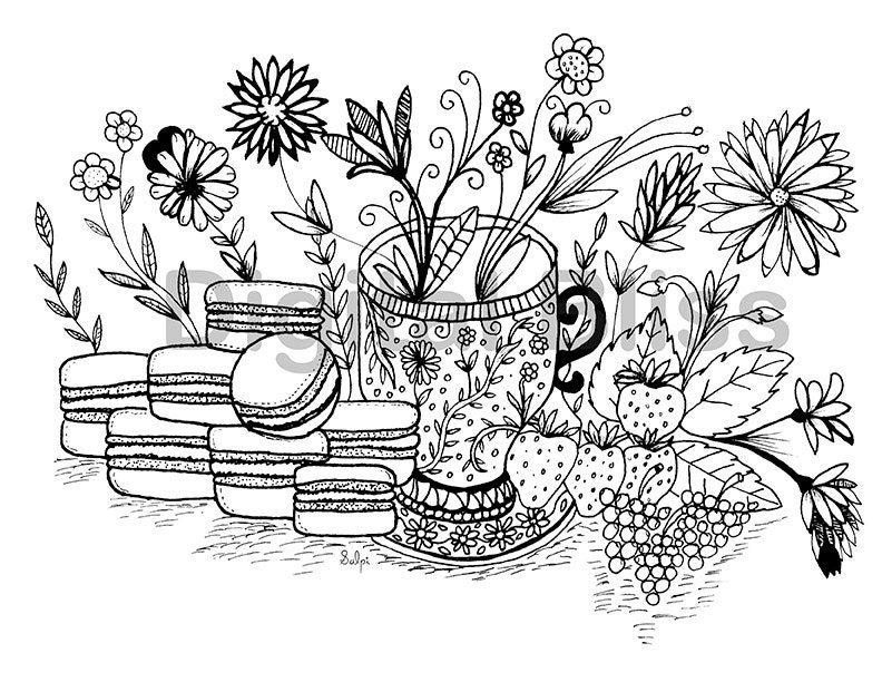 instant coloring page design colouring page