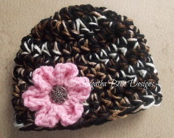 Chunky leopard look baby hat - photo prop - leopard baby girl hat - leopard baby hat - leopard photo prop - baby shower gift -  made to ord