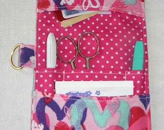 Pocket Organizer, Medical Pocket Organizer, Nurse,  Lab Tech, Scrub Pocket, Vet Tech, Backpack, Pink Heart Print, to Ship