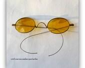 Antique Civil War Era Spectacles - Eyewear- Metal Frame Eye Glasses-John Lennon Style