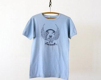SALE vintage military t-shirt, Korps Mariniers skull tee