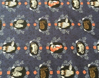 Navy, Foxtail forest Collection, by Dear Stella Fabrics, 1/2 yd