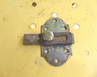"Large Antique French 3""1/2  slide bolt,latch, lock 1920s"
