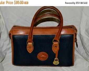 On Sale Dooney Bourke Bag~ X XLarge Bag~ Speedy  Bag~ Satchel~Blue Dooney ~ Bag Handbag Excellent