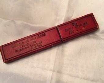 Vintage Celluloid Handle Straight Razor --Garibaldi
