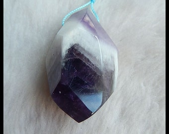 Amethyst Faceted Pendant Bead,45x25x23mm,28.6g