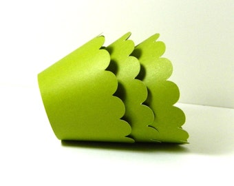 Olive Green Cupcake Wrappers Set of 12