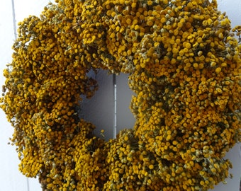 Yarrow Wreath  Harvest Moon Wreath   Autumn Wreath  Fragrant Wreath   MADE TO ORDER  Dried Wreath