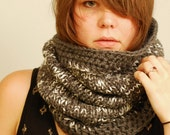 Knitted cowl, knitting pattern, crochet, snood, hood, pdf