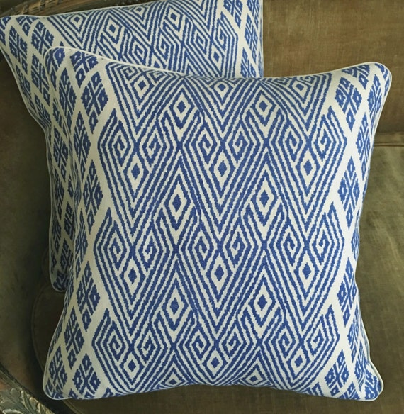 John Robshaw Fabrics: John Robshaw John Rosselli Linen Fabric Custom Designer Throw